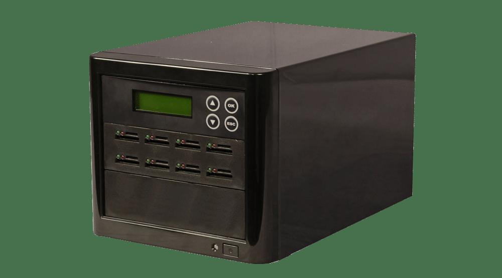 Stand-alone 7 slot SD/microSD Card Duplicator